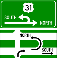Michigan Left Signs