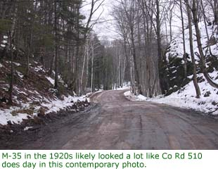 M-35 in the 1920s likely looked a lot like Co Rd 510 does today