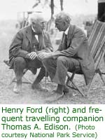 Henry Ford and frequent travelling companion Thomas A. Edison
