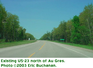 US-23 North of Au Gres