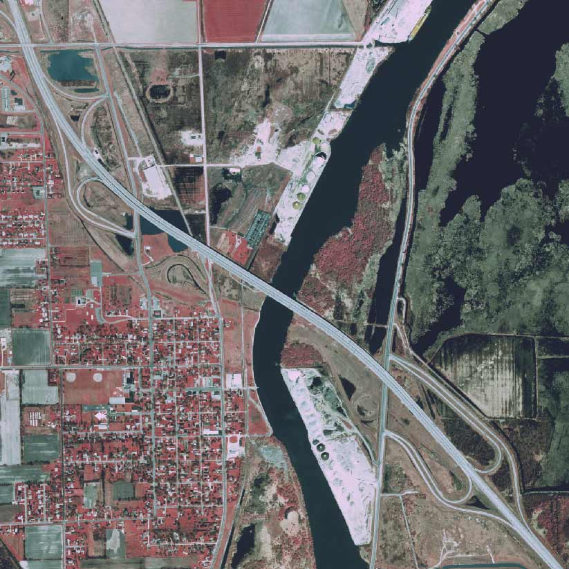 Zilwaukee Bridge orthophoto, 1998