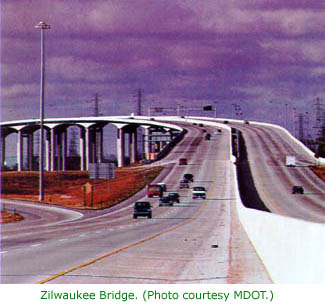 Zilwaukee Bridge photo, courtesy MDOT.