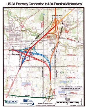 Michigan Highways In Depth US Freeway In Berrien County - Us map with freeways