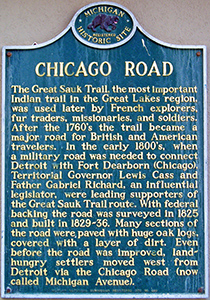Chicago Road Michigan Historical Marker